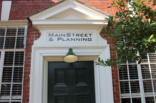 Entrance to Main Street and Planning