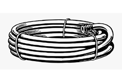 drawing of a coiled hose