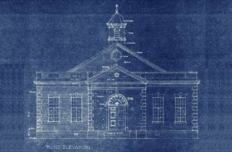 City Hall 1938 blueprint