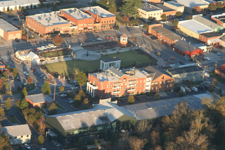 Aerial View of Madison Town Park, 2011