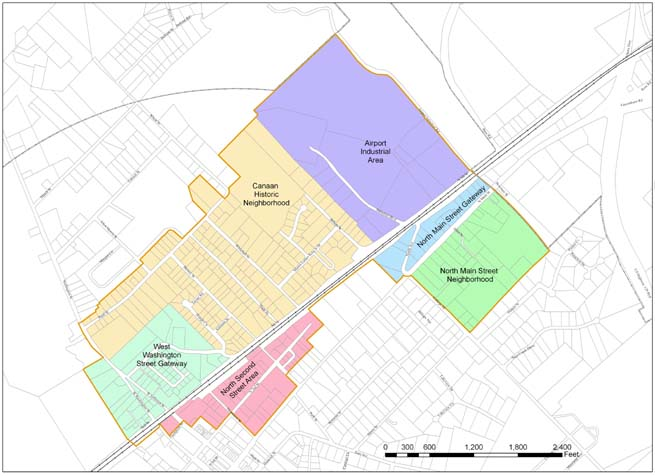 Downtown Urban Redevelopment Area Map - See Detail
