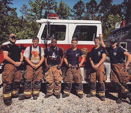 Group of fire fighters
