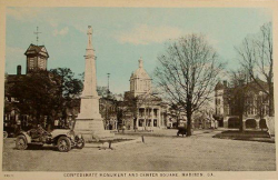 Confederate Monument and Center Square