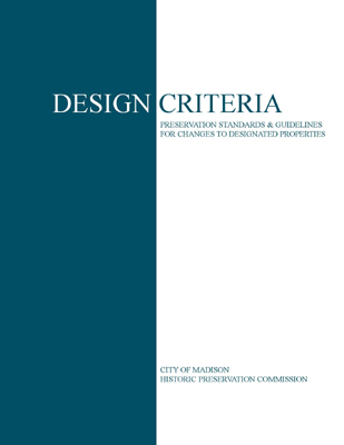 Design Criteria Booklet Cover