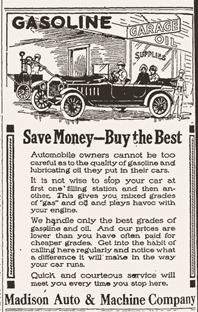 Madison Auto and Machine Company ad